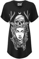 Killstar Moon Magic V-Neck Top. Goth Luna