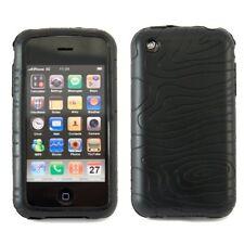 Wave Silikon Schutzhülle Wellen Muster Apple iPhone 3G / iPhone 3GS Schwarz