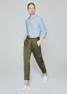 Me And Em Belted Am-Pm Cargo Jogger Khaki Green Size uk 6 0R 14