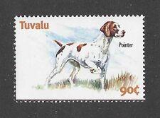 Dog Art Body Study Portrait Postage Stamp English Pointer Tuvalu Mnh