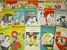 Lovely Lot of 17 Children'S Playmate Magazines 1957-1963-Most with Paper Dolls!