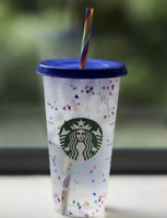 New 1 Starbucks Confetti Color Changing Cup Rainbow Straw Pride Summer 2020