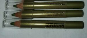 Jordana Eye Shadow Pencils Moss Green Shimmer Sticks Eyeliner NEW m3 Lot of 3
