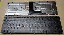 Teclado hp elitebook 8560w 8570w iluminado Backlight Keyboard alemán retroiluminada