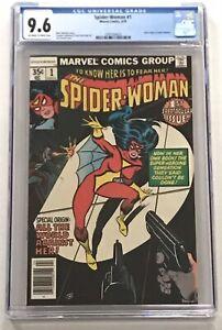 CGC 9.6 SPIDER-WOMAN #1 New Origin Jessica Drew OW/W Pages Marvel Comics 1978