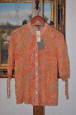 TOMMY BAHAMA 3/4 Sleeve Cotton Orange Peel Tunic SZ XXS SZ 0 NWT $148