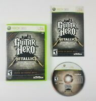 Guitar Hero: Metallica (Microsoft Xbox 360, 2009) Complete Case Disc and Manual