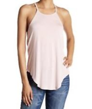 HAUTE HIPPIE HALTER NECK JERSEY TANK IN BLUSH, MEDIUM
