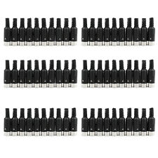 50 Pcs 6 Pin DIN Plug Connector With Black Plastic Handle Male CA