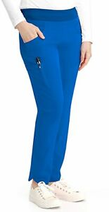 "Barco One #549 Elastic Yoga Waist Cargo Scrub Pant in ""Royal"" Size S"