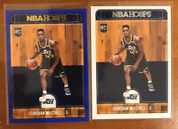 LOT (2) 2017-18 DONOVAN MITCHELL ROOKIE CARD RC HOOPS #263 🔥 BLUE BOARDER 🔥