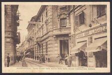 ALESSANDRIA CITTÀ 152 BANCA COMMERCIALE ITAL. - GRAN BAR LAGUZZI Cartolina 1927