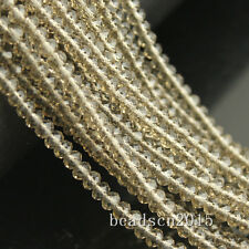 1strings 3mm Faceted cut Glass Crystal Spacer Oval Loose Beads Craft DIY beaded