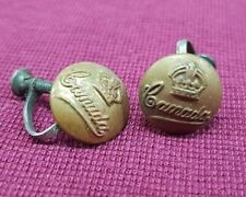 WW2 CANADIAN BUTTON WIND ON LADIES EARRINGS