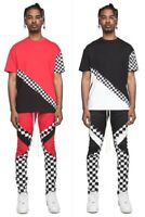 New EPTM Men's Checker Block Long Drawstring tee and Pants set