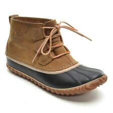 Womens Sorel Out N About Waterproof Ankle Duck Boots 6.5 M Brown Booties Shoes