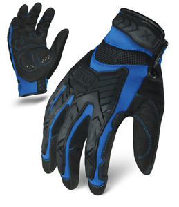 IronClad Gloves EXO2-MIGB Motor Impact Protection Blue & Black - Select Size