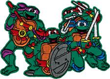 16212 Teenage Mutant Ninja Turtles Group Shot TMNT Comic TV Hero Iron On Patch