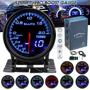 52mm Auto Turbo Ladedruckanzeige Zusatz Instrument Bar 12V 10 Farben LED Licht