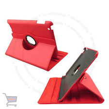 New Smart Rotating Red Colour Leather Case Cover Stand Holder for Ipad UKES