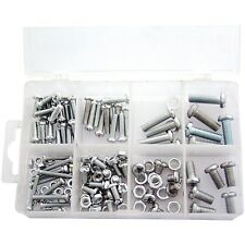 150PC ASSORTED NUT AND BOLT KIT SET M4 M5 M6 NUTS & BOLTS IN COMPARTMENT CASE