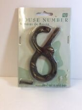 FIGI HOUSE NUMBER #8 HAND CAST IN SOLID BRASS WITH  BEE OR LADY BUG?