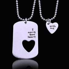 I carry your heart with me necklace pendant military navy miss you Lover Family