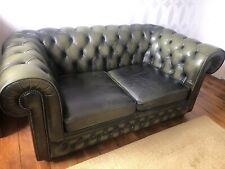 Vintage Green Chesterfield 2 Seater Sofa