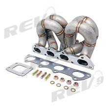 REV9 HP SERIES HONDA B16 B18 EQUAL LENGTH RAM HORN TURBO MANIFOLD T3/T4 T3 AC/PS