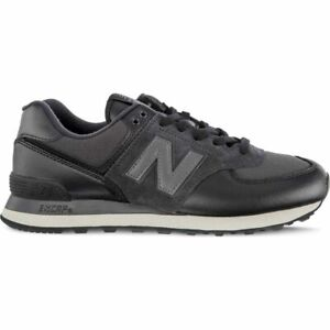 New Balance NB 574 Classic Athletic Leather Sneaker Trainer Black ML574LHF 2E EE
