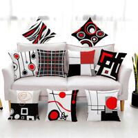 Creative Geometric Polyester Pillow Case Waist Throw Cushion Cover Home Decor