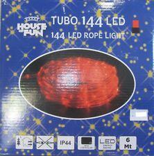 TUBO LUMINOSO 144 LED COLORE ROSSO LUCI NATALE X ESTERNO 6 MT GIOCOPLAST