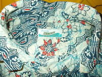Vintage 60's Penneys Hawaiian Pullover Shirt M Cotton Cool Graphics Pool Time NR