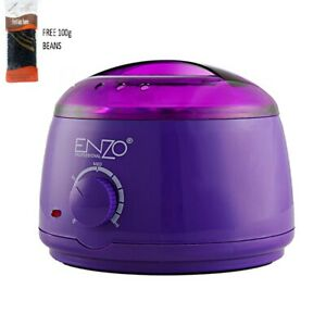 Enzo Hard Wax Beans Heater Warmer Machine For Painless Hair Removal + BEANS