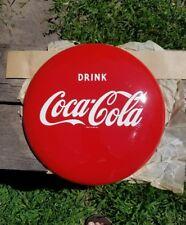 "Vintage Original NOS 12"" Coca Cola Soda Button Sign"