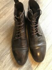 Paul Smith Dark Brown Leather Boots Size 10