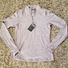 Nike Element Women's Half Zip Long Sleeve Pullover Running Shirt S Purple Gym
