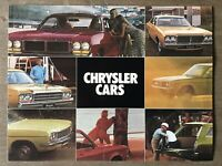 c1977 Chrysler Range original Australian sales brochure
