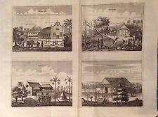 Églises Paneteripou Manipay Changane Vanarpone acquaforte 1672 ASIA VILLAGES