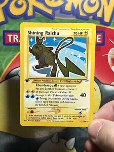 Pokemon - 1st edition Shining Raichu Holo - 111/105 Neo Destiny exc 5409