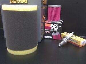 Tune up Kit Suzuki King Quad 300 Quadrunner 250 LT-F Air Spark K&N Oil Filter