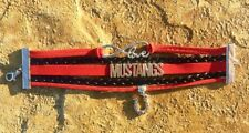 MUSTANGS 5 Strand Bracelet with Horseshoe Charm - Red and Black - Infinity Love