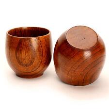 Primitive Handmade Natural Wooden Cup Wood Coffee Tea Beer Juice Milk Water Mug