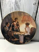 """Norman Rockwell """"This Is The Room That Light Made"""" Plate - 1983"""