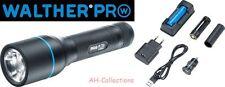 WALTHER PRO PL70r LED Taschenlampe Flashlight 910 Lumen inkl. Akku Ladegerät USB