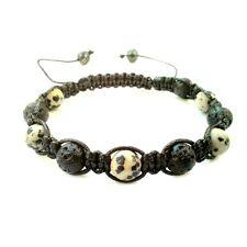 Men's beaded shamballa bracelet stone jewelry Lava Jasper bead cuff wristband