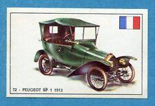 STORIA DELL'AUTOMOBILE Panini Figurina-Sticker n. 72 - PEUGEOT BP 1 1913 -Rec