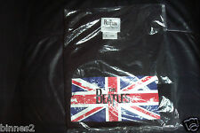 THE BEATLES  UNION FLAG T SHIRT Black Brand new lovely  gift for you ! XL FAB !