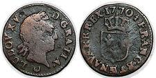 LOUIS XV LIARD A LA VIEILLE TETE 1770 AA METZ