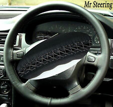 100%REAL LEATHER STEERING WHEEL COVER FOR LAND ROVER FREELANDER 1 GREY STITCHING